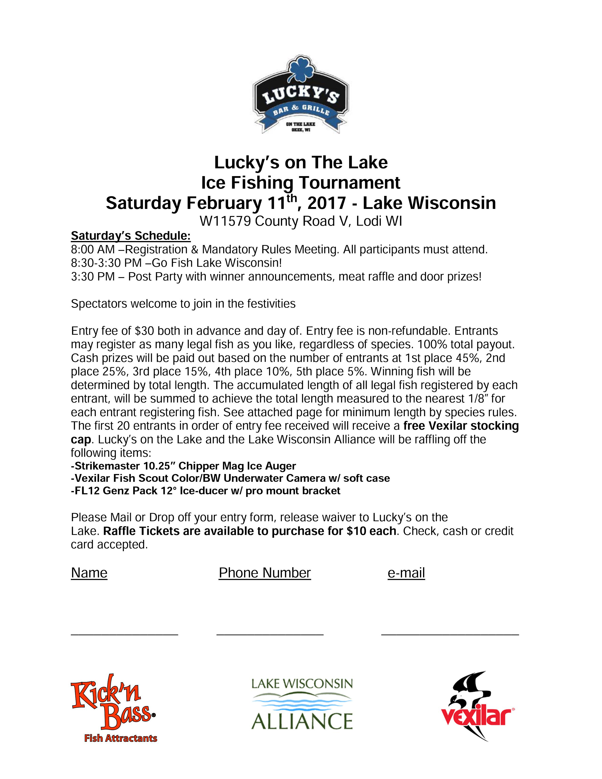 Lucky's on the Lake Ice Fishing Tournament